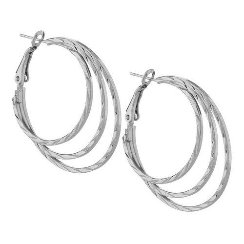 9a9e1dd9b Triple Layered Hoop - Silver