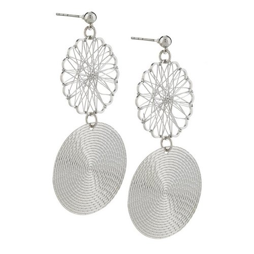 14cfc9795 Wire Double Disc Drop Earrings - Silver. More Sizes. Add to bag. CLEARANCE.  NEW
