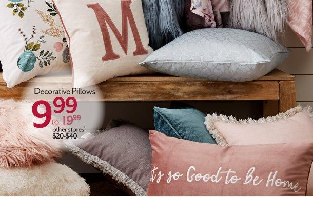 Shop Decorative Pillows at Burkes Outlet
