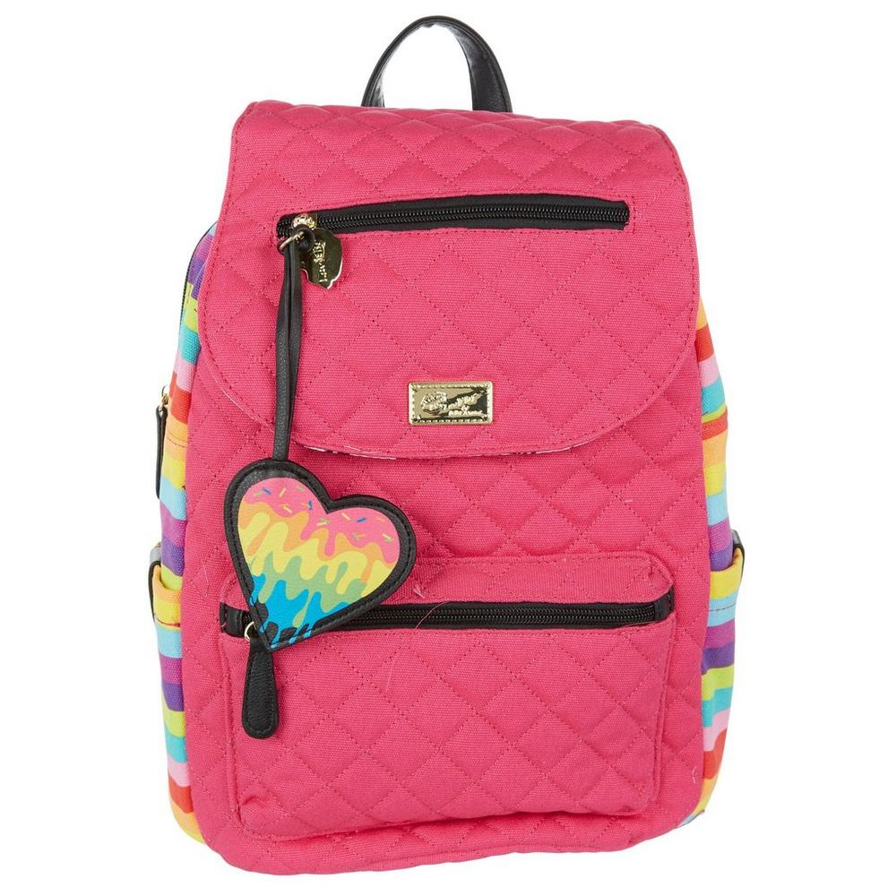 f3fb689c5153 Rainbow Stripe Fashion Backpack - Pink | Burkes Outlet