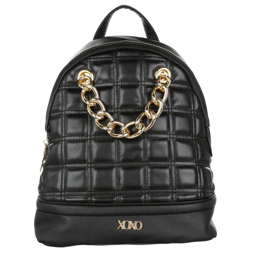 ba120d6ee81 Square Quilted Chain Backpack - Black