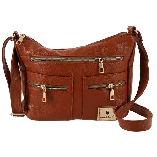 d0f82fed1965 Triple Zip Crossbody - Tan