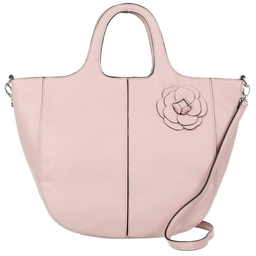 Francesca Flower Embellished Tote - Pink  ad878d5812b3d