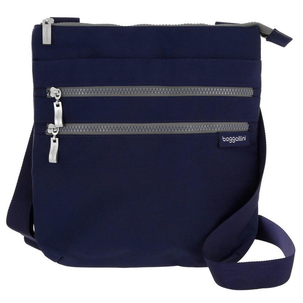 Vision Double Zipper Crossbody - Blue