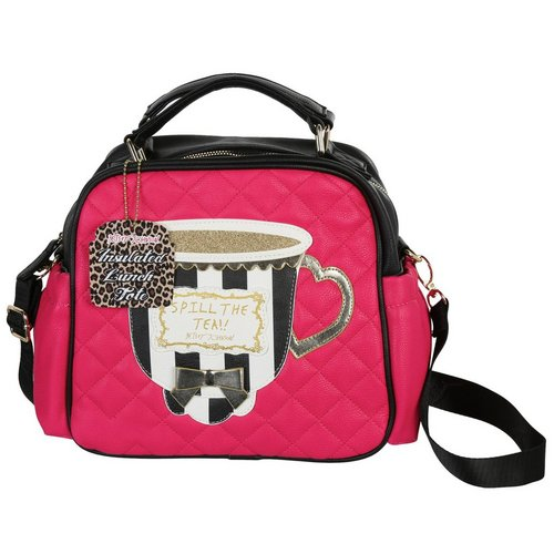 Spill The Tea Insulated Lunch Tote Fuchsia