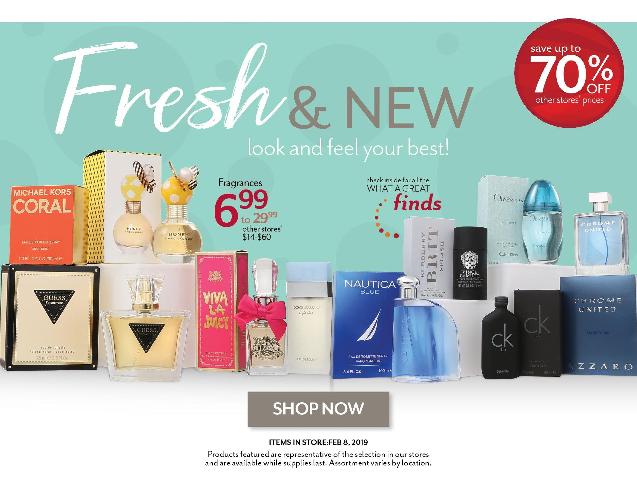 Shop the latest in Beauty and Fragrances at Burkes Outlet