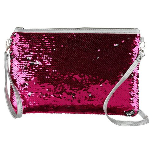 Mermaid Flip Sequin Wristlet Crossbody - Pink Silver bbfc5c4fb70f5