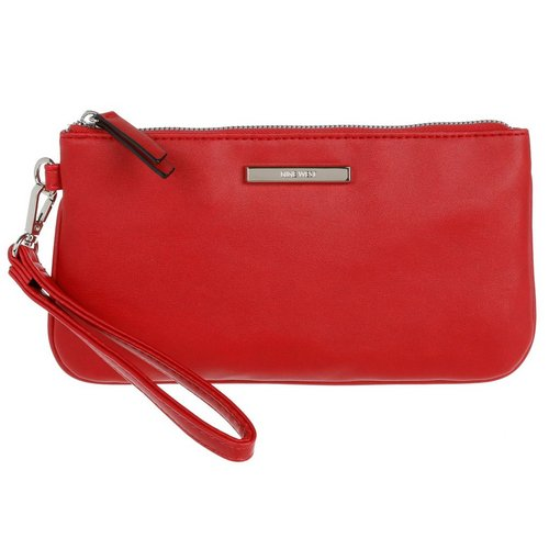 bad3d442d0 Vegan Leather Haute Holiday Wristlet - Red