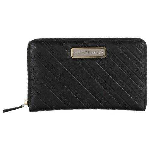 Extra Large Name Striped Wallet Black
