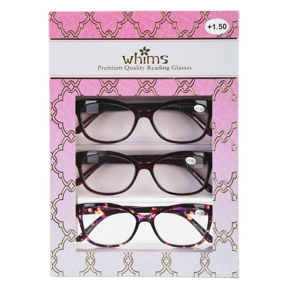 7d86dbe8ce4 Premium Quality Reading Glasses 3 Pk 1 50 Burkes Outlet