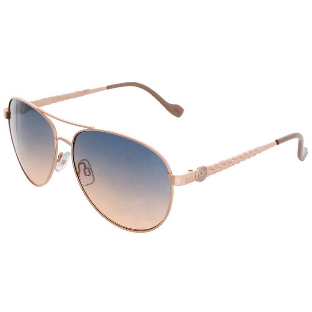 068a39490e Women s Mirrored Chain Aviator Sunglasses - Rose Gold