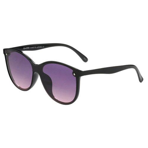 44285e5913 Cat Eye Flat Lens Sunglasses - Black