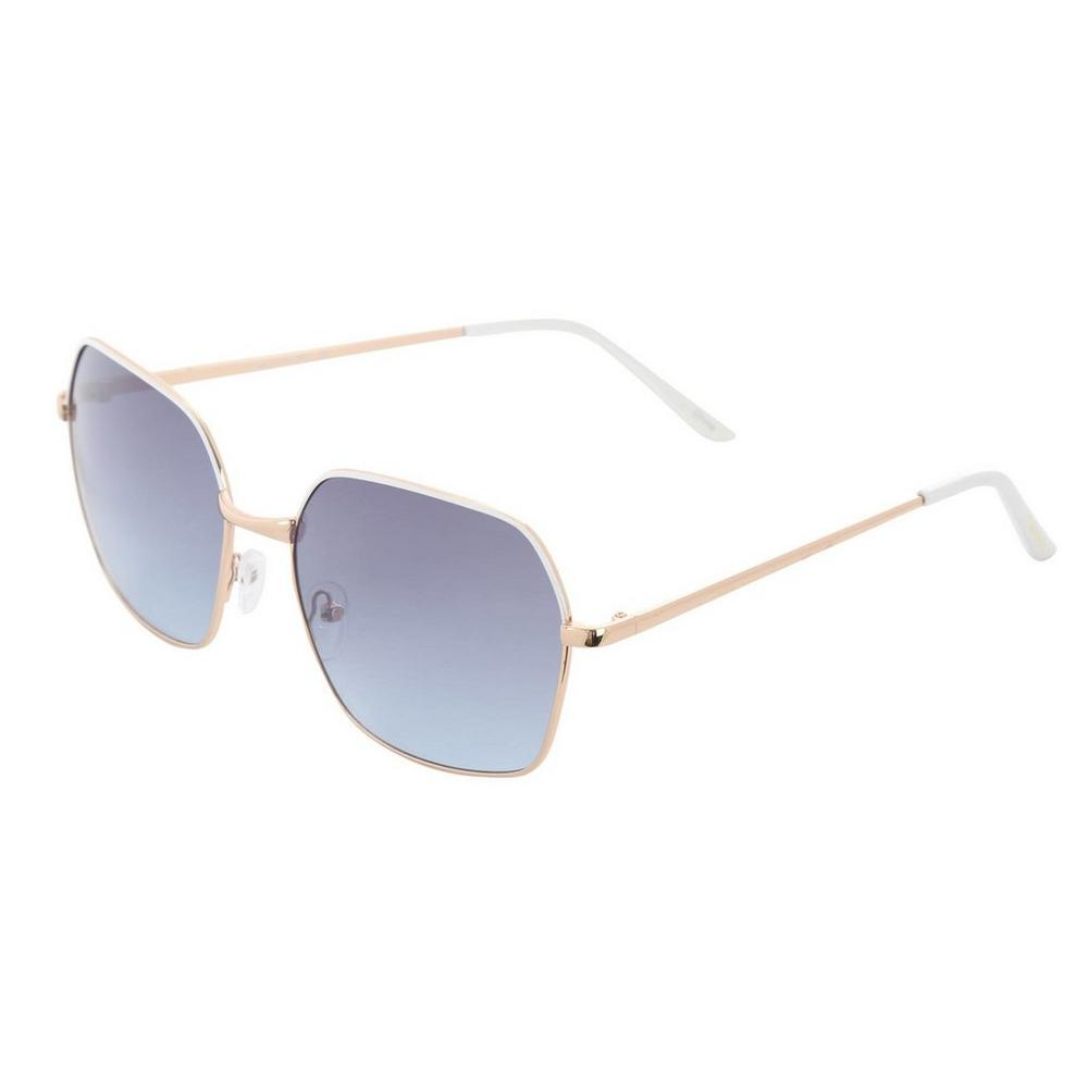 e4d108a76cdf Octogon Sunglasses - Gold & White | Burkes Outlet
