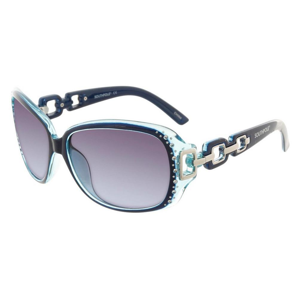 34839e7a6d6d7 Jeweled Square Frame Sunglasses - Blue
