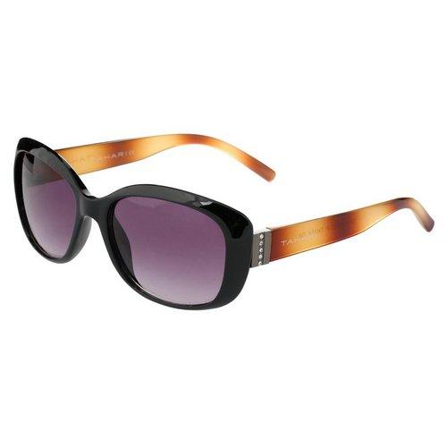 f8438a1c96 2-Tone Rectangle Frame Sunglasses - Black Brown