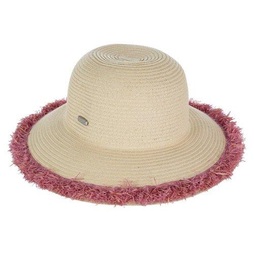 bfad6e13222 Fringe Brim Floppy Sun Hat - Natural