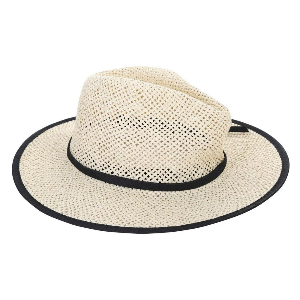 cc4f089965b Women s Border Woven Sun Hat - Natural Black