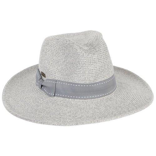 Women s Shaped Woven Sun Hat - Grey a9cd8f018da