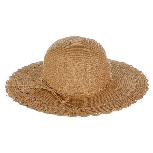 32ba576ec42 Bow Woven Floppy Hat - Natural