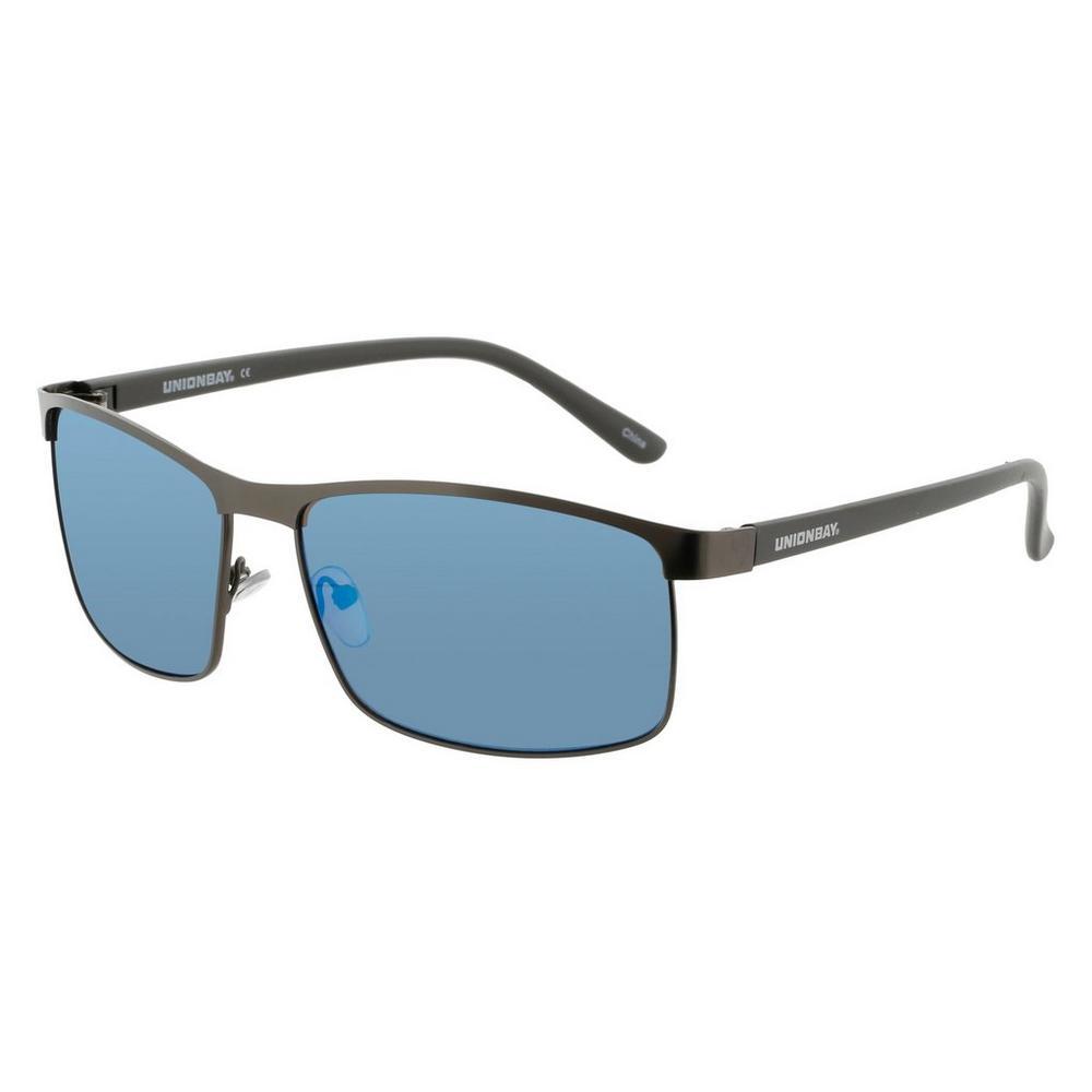 b0239ea61a Men s Rectangle Frame Mirrored Sunglasses - Gunmetal