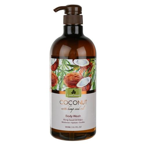 Coconut & Hemp Seed Oil Body Wash