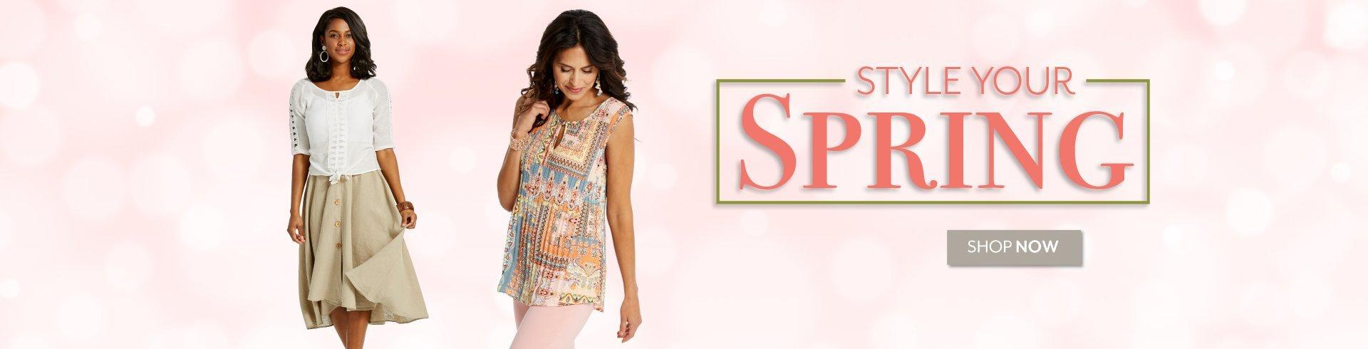 Style Your Spring - Shop the latest trends in Women's Fashion at Burkes Outlet