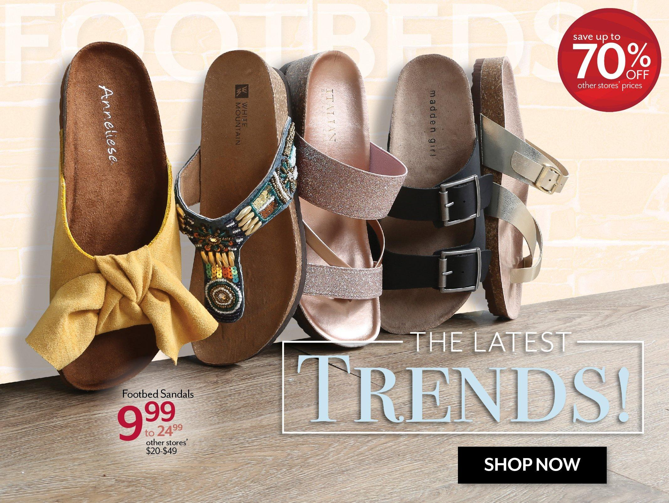 Shop the latest in Shoes at Burkes Outlet