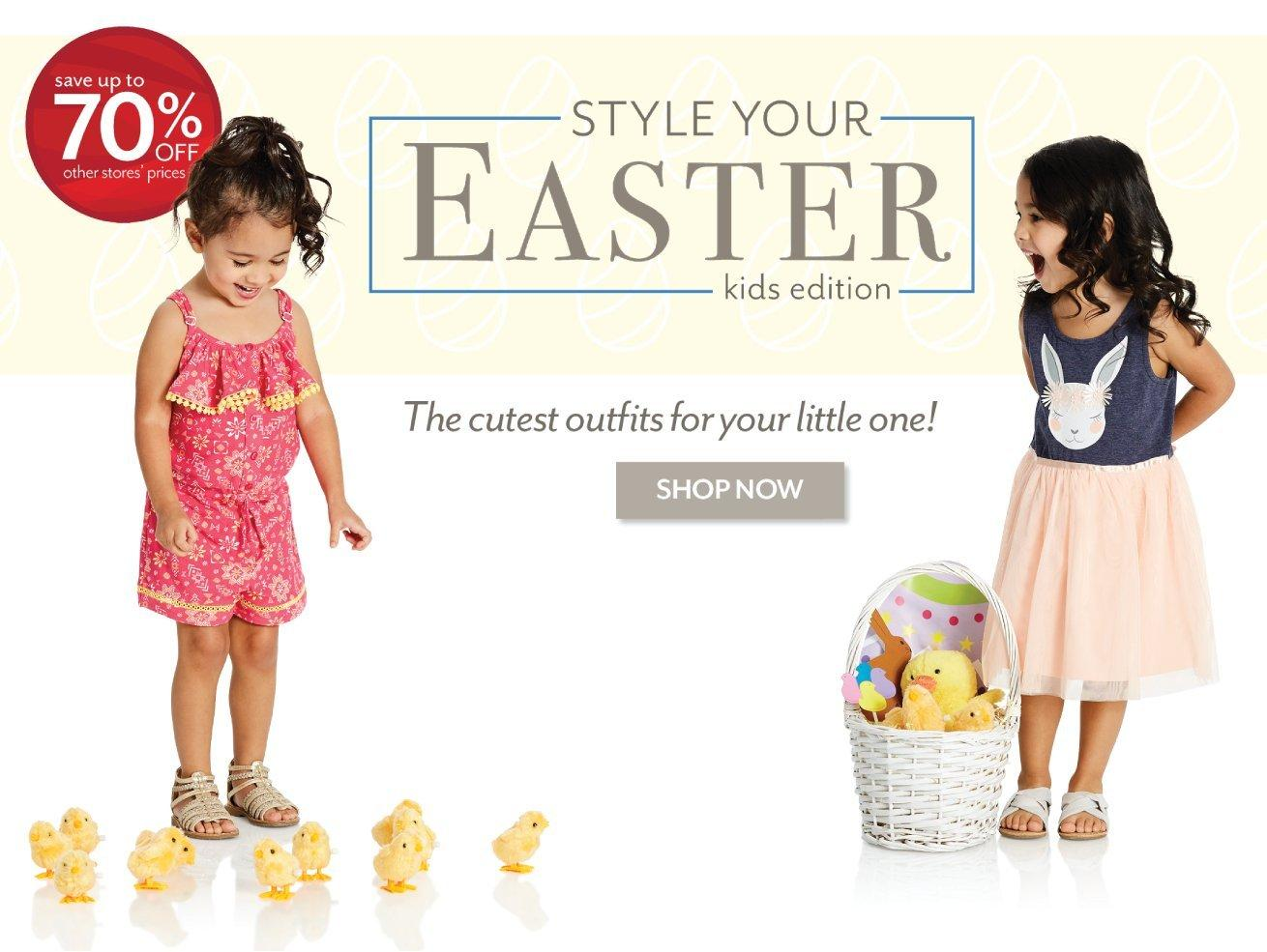 Shop the latest in Easter Baby and Kids Fashion at Burkes Outlet