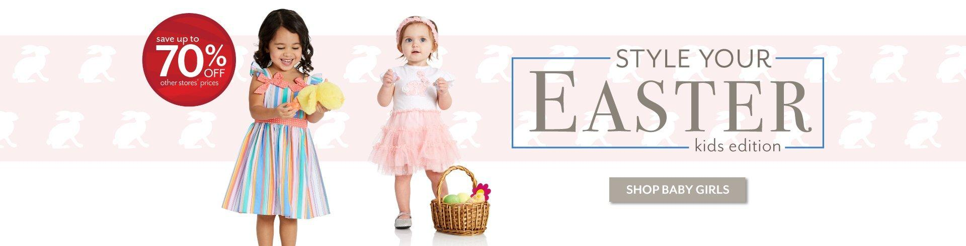 Style Your Easter - Shop the latest styles for Baby Girls at Burkes Outlet