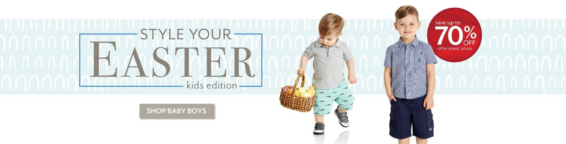 Style Your Easter - Shop the latest styles for Baby Boys at Burkes Outlet