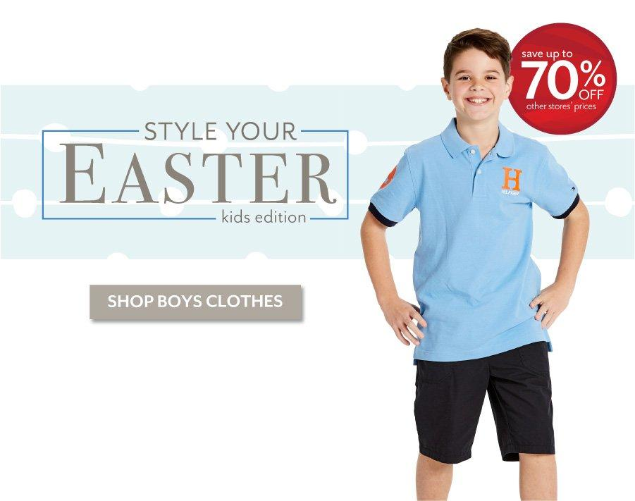 Style Your Easter - Shop the latest styles for Boys at Burkes Outlet