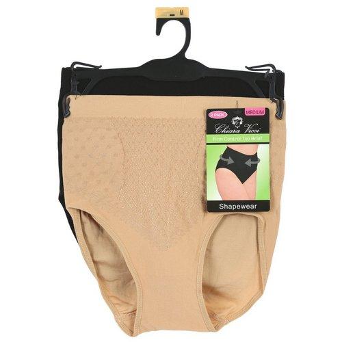 7b797725f89 Women s 2 Pk Firm Control Top Shapwear Briefs - Nude Black