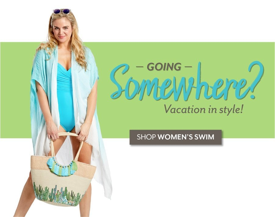 Going Somewhere? - Shop Swimwear at Burkes Outlet