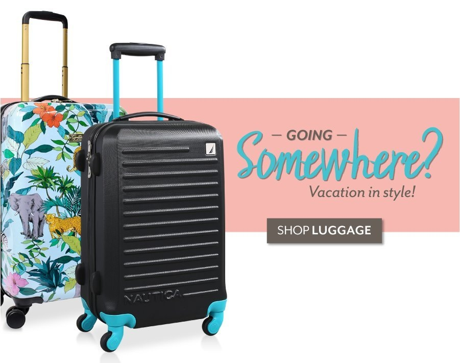 Going Somewhere? - Shop Luggage at Burkes Outlet
