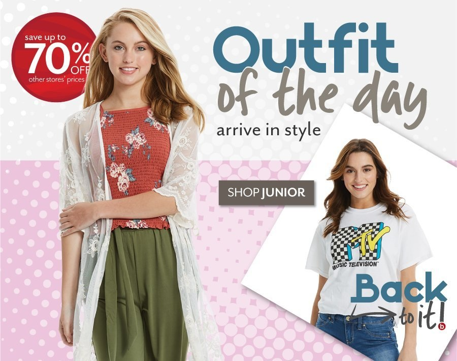 Outfit of the Day - Juniors at Burkes Outlet