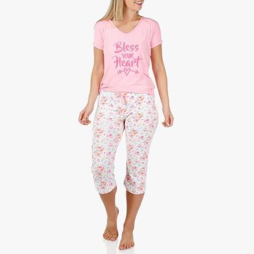 bd196ed2ad7e Women's 2 Pc Bless Your Heart Sleep Set - Pink