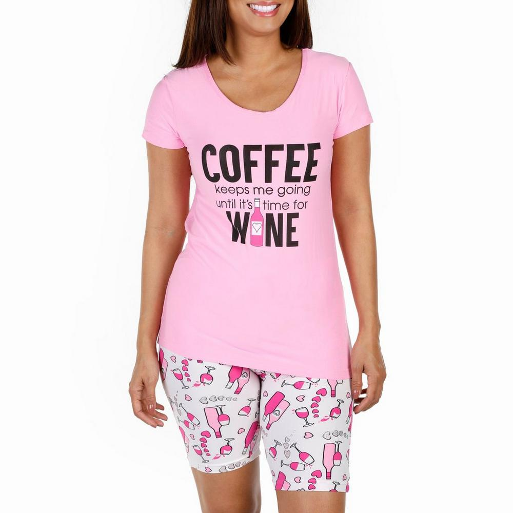 54336739fb9a Women s Coffee   Wine Bermuda Pajama Set - Pink
