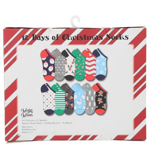 12 Days Of Christmas Socks.Women S 12 Days Of Christmas Socks Set Multi