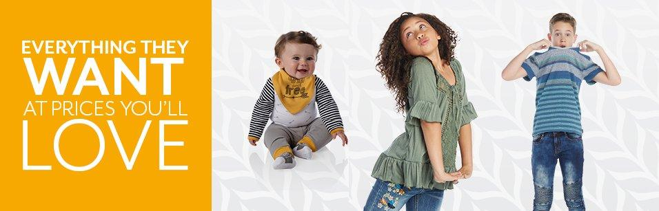 Shop Baby & Kids at Burkes Outlet