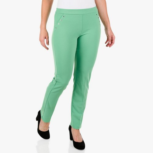 f4c090616dfc3 Women's Rivet Seam Scuba Pants - Green