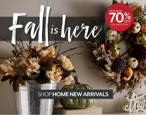 Fall is Here - The latest trends in Home and Decor at Burkes Outlet