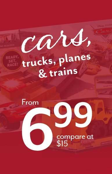 Cars, Trucks, Planes, & Trains