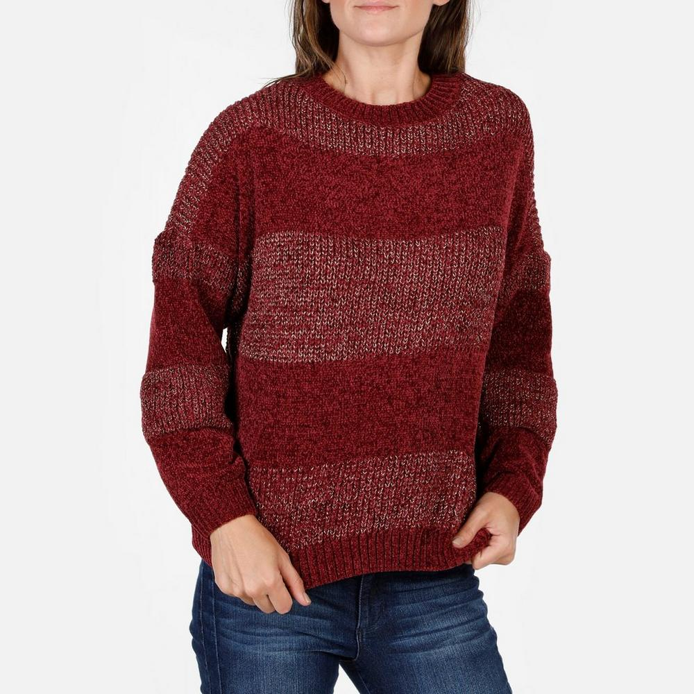 01cfdc1a90 Women s Shimmer   Chenille Knit Sweater - Burgundy