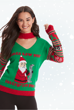 Women's Winter and Holiday Sweaters online at Burkes Outlet