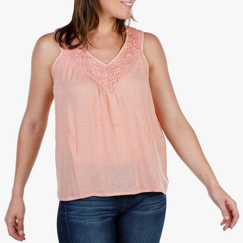 694df016bc805 Women s Sleeveless Crochet Top - Pink