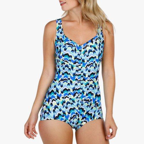 41e37bbabe53 Women s Instant Minimizer 1-Pc Swim Suit - Blue Multi