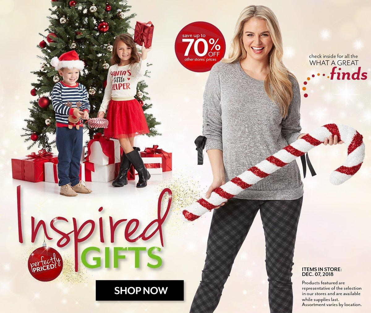 Shop everything on their Christmas Wish Lists at Burkes Outlet
