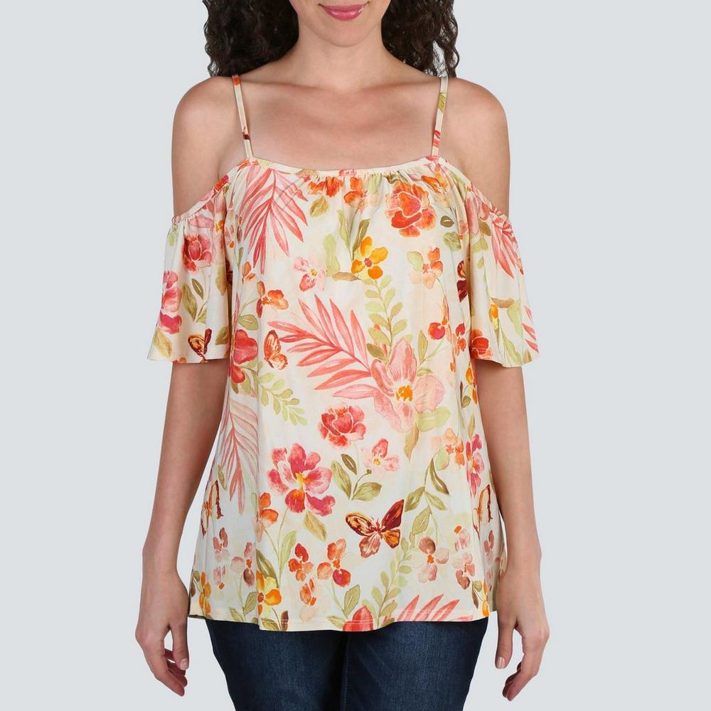 7c53716e608f30 Women's Floral Off Shoulder Top - Multi | Burkes Outlet