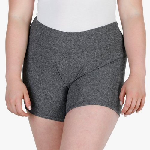 212fb135cdf8c3 Junior Plus Nylon Biker Shorts - Charcoal