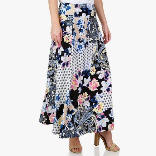 076dc1bfa1e Women s Mix-Print Ring Waist Maxi Skirt - Multi